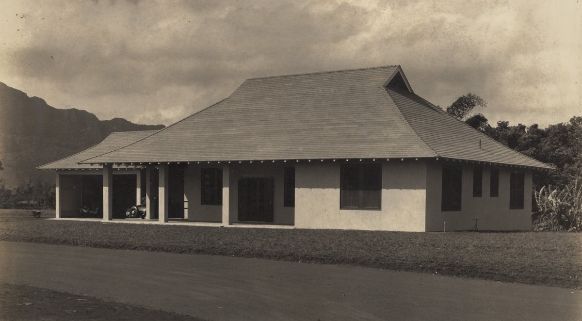 Grove Farm Puhi office exterior, 1937